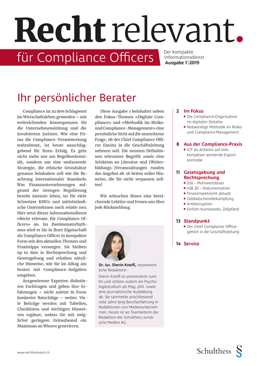 Recht relevant für Compliance Officers 1|2019