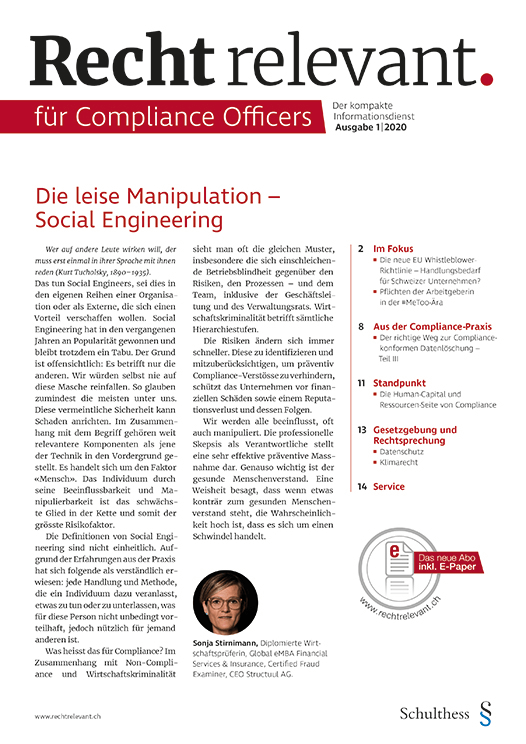Recht relevant für Compliance Officers 1|2020
