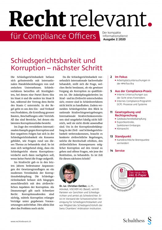 Recht relevant für Compliance Officers 2|2020