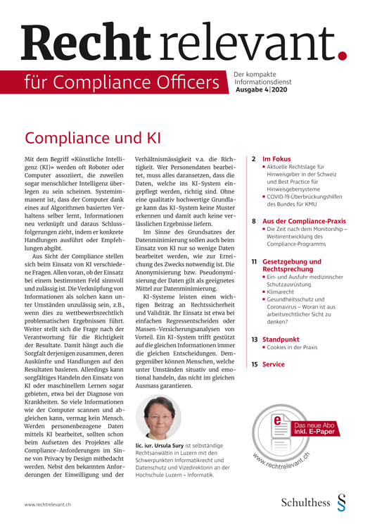 Recht relevant für Compliance Officers 4|2020